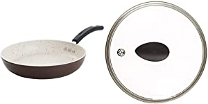"""8"""" Stone Earth Frying Pan and Lid Set by Ozeri, with 100% APEO & PFOA-Free Stone-Derived Non-Stick Coating from Germany"""