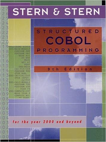 Structured Cobol Programming Pdf