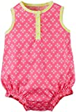 Carter's Baby Girls' 1pc Romper W Mini Geo, Pink, 3 Months