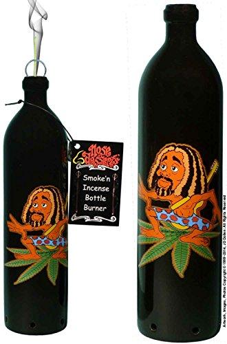 Rocking Rasta Guitar Man Wonderland Fantasy Smoking Bottle Incense Burner-Ashcatcher By Nose Desserts Brand