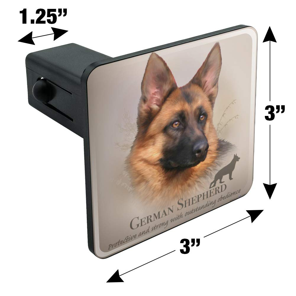 Graphics and More German Shepherd Dog Breed Tow Trailer Hitch Cover Plug Insert
