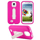 HHI Armor Case with Stand for Samsung Galaxy S4 - White/Hot Pink (Package include a HandHelditems Sketch Stylus Pen)