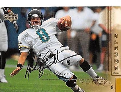 Mark Brunell autographed football card (Jacksonville Jaguars QB