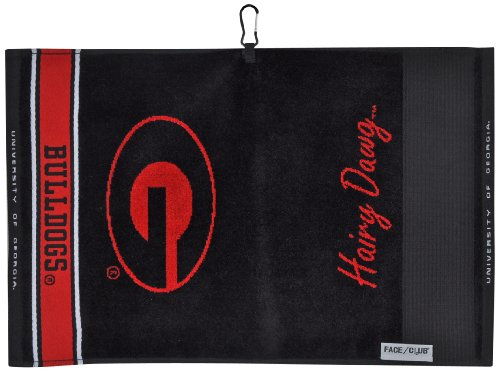 Textured Golf Jacquard - Team Effort Georgia Bulldogs Face/Club Jacquard Towel
