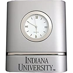 Indiana University- Two-Toned Desk Clock -Silver