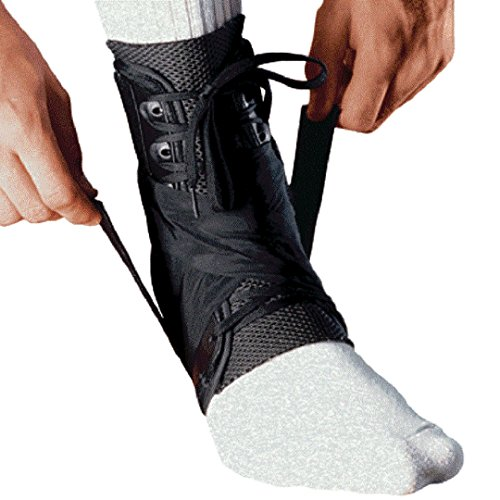 MEDIZED Ankle Stabilizer Brace Support Guard Protector Sports Safety Foot Strain Stirrup Compression Strap Speed Lacer Soccer Baseball Netball Volleyball (Large)