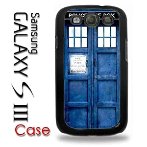 Samsung Galaxy S3 Plastic Case - Dr Who Tardis Police Call Box Phone Booth Blue