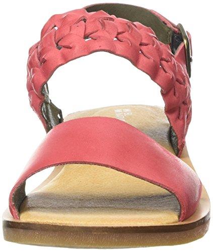 El Naturalista Womens Nf31 Tulip Flat Sandal Grosella IIwFcC2