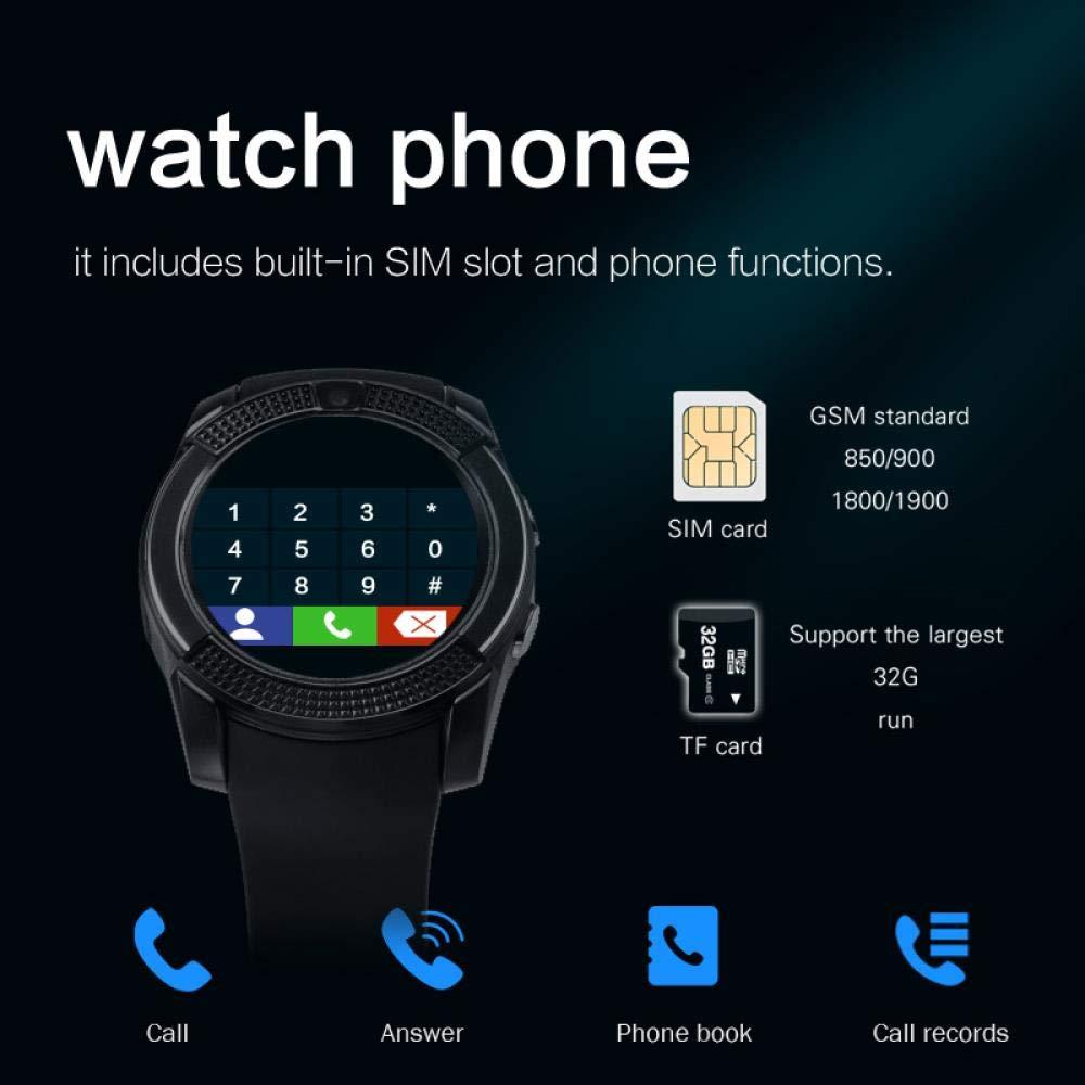 MROSW Smartwatch Bluetooth Pedometer SIM TF Card Watch ...