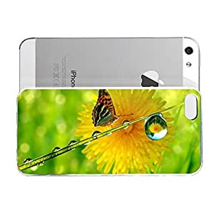 iPhone 5&5S cover case Animals Butterfly Flower Waterdro