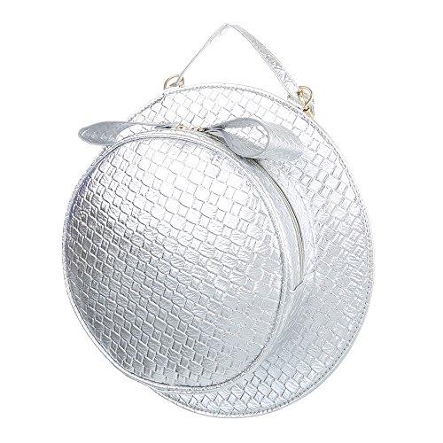 Taschen Schultertasche Silber