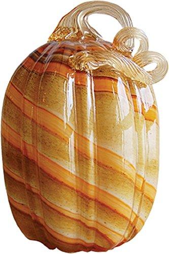 Handmade Glass Pumpkin - Orange Desert - 7