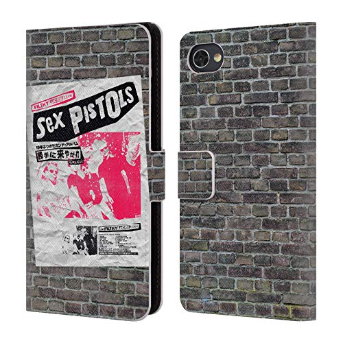 Official Sex Pistols Filthy Lucre Japan Band Art Leather Book Wallet Case Cover Compatible for BlackBerry Motion (Sex Pistols Black Leather)