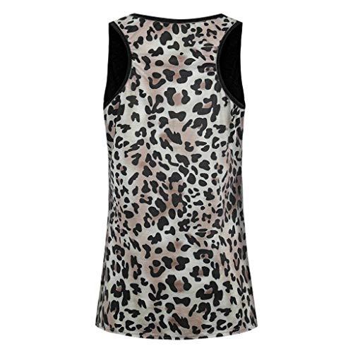 Manga Negro Casual Con Estampado O Camiseta Leopardo Sin Holgada Suelto Blusa Cuello Jiameng Mangas De 1wxnB7Znq