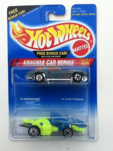 hot-wheels-krackel-car-series-1-3-of-4-sharkruiser-and-63-split-window-1994