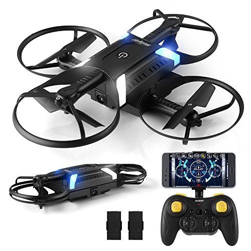 HELIFAR Foldable Drone with Camera H816 Remote Control FPV Drone for Kids 2.4GHz 6-Axis Gyro Quadcopter with Beginners APP Controll/Headless Mode/3D Flip/One Key Return/Altitude Hold(Controller)