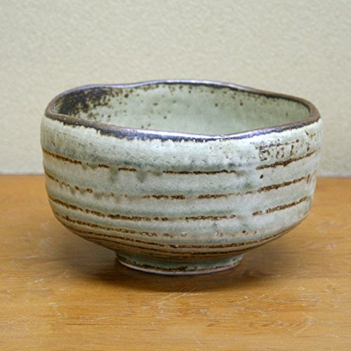 Yamakiikai Japanese Tea cup Matcha Bowl 灰釉 Kaiyu pattern Gray F2850 From Japan