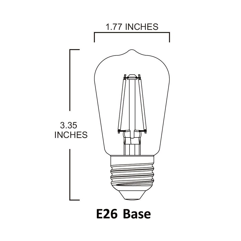 2W to Replace 30W Incandescent Bulbs 5 PACK UL Certified 5000K 120VAC Daylight Frost Bulb E26 Medium Base Non-dimmable LED2020 LED S14 Filament Light Bulb