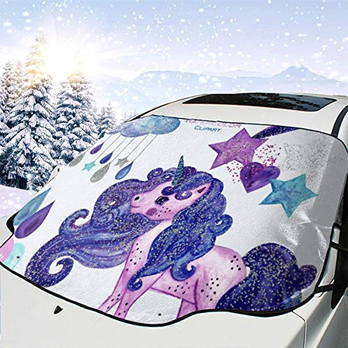 - Clipart Commercial Car Windshield Snow Cover,Waterproof Frost Guard Winter Windshield Snow Ice Cover with Side Mirror Covers,Windproof Summer Windshield Sun Shade Fits Most Cars,SUVs,Minivans
