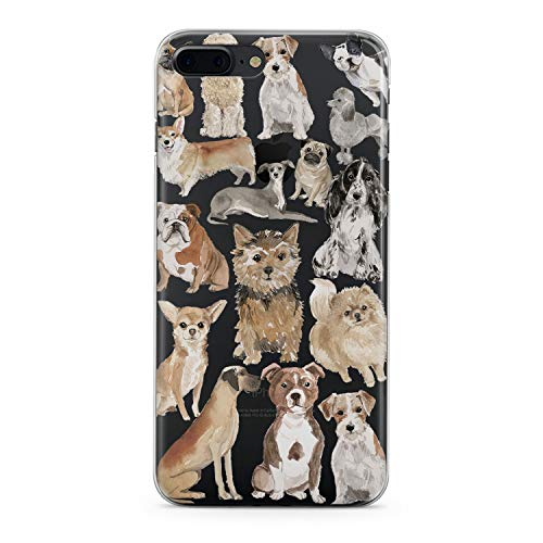 Cocker Spaniel Pomeranian - Lex Altern TPU iPhone Case X 8 Plus Xr 7 6s 6 SE 5s 5 Dog Pattern Apple Phone Cute Cover Silicone Durable Print Protective Kid Girl Max Xs Puppy Animal Transparent Women Teen Corgi Clear Pomeranian