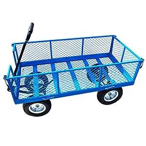 Large-Metal-Garden-Cart-Utility-Sack-Truck-Trolley-Heavy-Duty-Wheelbarrow