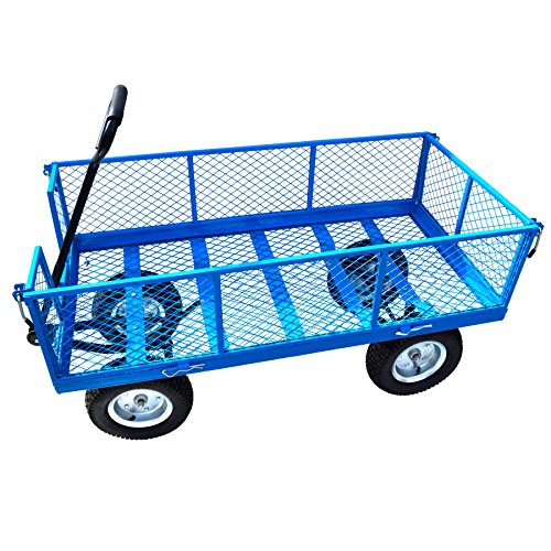 Large-Metal-Garden-Cart-Utility-Sack-Truck-Trolley-Heavy-Duty-Wheelbarrow