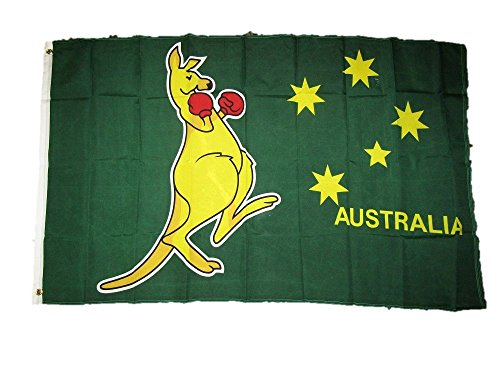 ALBATROS 3 ft x 5 ft Australia Australian Kangaroo Boxing Perma Dye Stainguard Poly Flag for Home and Parades, Official Party, All Weather Indoors Outdoors