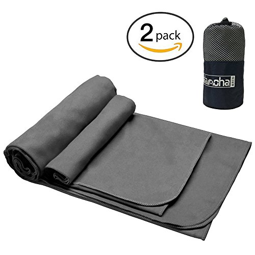 2Pack Microfiber journey Sports Towel by Alamoha. superb Absorbent-Compact-Lightweight and rapidly dehydrating Picnic Outdoors Towel ( 51