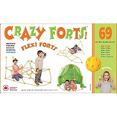 Crazy Forts! Flexi Forts 69 Piece Set with Free Storage Bag by Everest Toys: Toys & Games