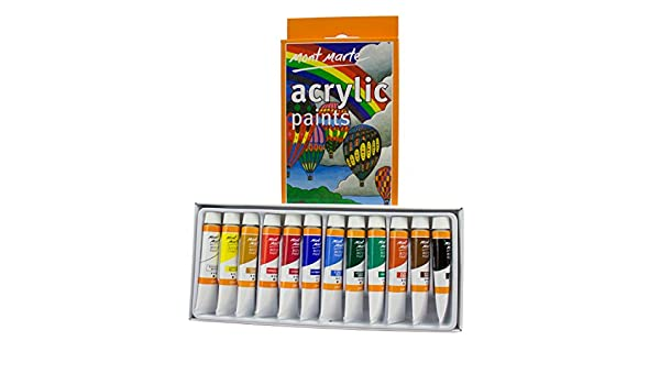 MONT MARTE Set de Pinturas Acrílicas (12ml) - 12 piezas ...