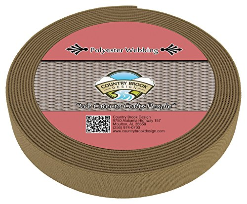 - Country Brook Design | Beige Elastic Polyester Webbing (1 Inch)