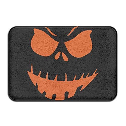 Scary Face Halloween Indoor Outdoor Entrance Rug Non Slip Floor Mat Doormat Rugs for Home -
