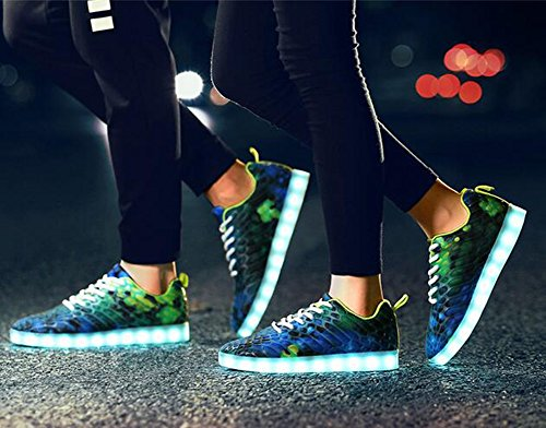 Gift for Colors F Men Christmas LED Day Shoes USB Couples Party with Unisex Color Valentine's Day 37 Size Hallowen Women with F Thanksgiving 7 Chargable XnxvqUpwtx
