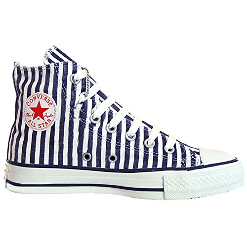 Converse All Star Chucks White Blue Striped Limited Edition: 36,5 Uk: 4