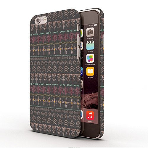 Koveru Back Cover Case for Apple iPhone 6 - Brown Wall Pattern
