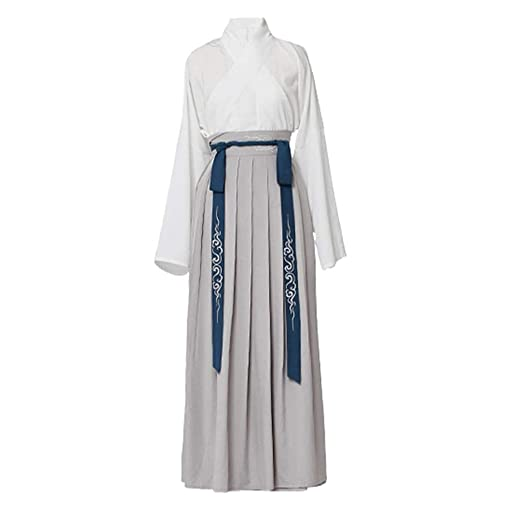 Vestido Tradicional Hanfu para Hombre Cosplay Traje Traje Blanco ...