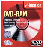 Imation IMN41529 DVD-RAM, 4.7 GB, Single Sided Rewritable (Discontinued by Manufacturer)
