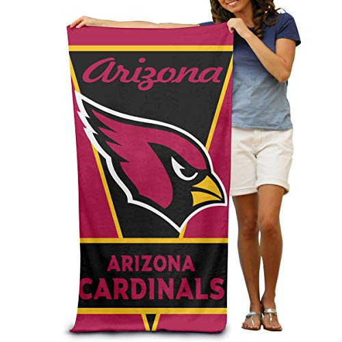 Sorcerer Custom Colorful Beach Towell Arizona Cardinals American Football Team 100% Polyester Microfiber Quick Dry Bathroom Travel Bath Towel 31.5x51.2 Inches