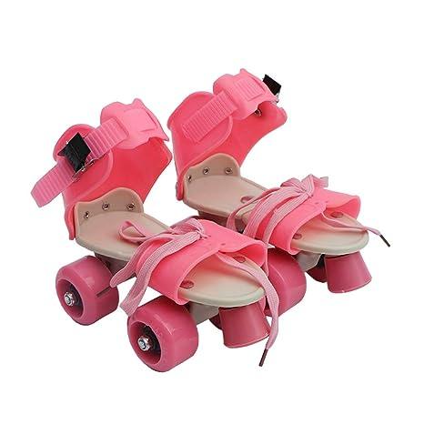 Vosarea niños Patines Regulables de Doble Fila – Patines de Cuatro Ruedas Patines Zapatos niños Regalo