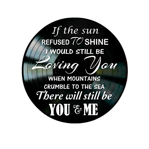 Led Zeppelin Thank You Song Lyrics On A Vinyl Record Album Valentine Gift