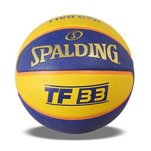Spalding BB SPALDING TF 33 YLW BLU 6 Basketball, Size 6  Yellow Blue