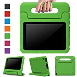 Surom Case for All-New Amazon Fire HD 8 2017,Kids Shockproof Convertible Handle Light Weight Protective Stand Cover Case for Fire HD 8' Display Tablet (7th Generation, 2017 Release Only), Green