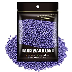 Waxkiss Painless Wax Beans for Men Women - Hard Waxing Beads for Body Hair Removal Easy to use & No Strips Required Remove the Hair from Legs 10.5 Ounces/bag (Purple Lavender)