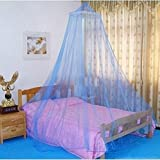 How Big Is a Cal King Bed Elegant Lace Bed Canopy Mosquito Net (Blue)
