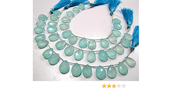 63/%OFF Blue Chalcedony Faceted Beads Pear Shape Size-13x23 To 14x32.mm Approx 100 Percent Natural Top Quality Wholesale Price New Arrival.