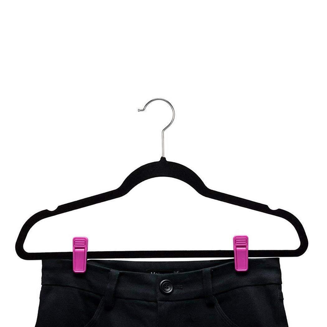 Pink 25 Pcs Slim-line Finger Clips Set for Clothes Hanger or Velvet Hanger Xindejia Plastic Baby Hanger Clips