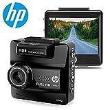 HP DASH CAM for Cars HD 1440P Built-in GPS DVR Vehicle Dashboard Digital Camera Recorder,G-Sensor, Night Vision, WDR, Parking Guard, Loop Recording,Invisible