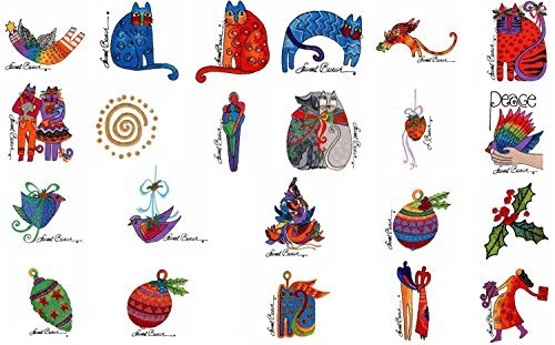 Brother/Babylock Embroidery Machine Card Laurel Burch Holiday Spirit