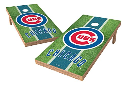 """MLB Chicago Cubs Field XL Shield Tailgate Toss, 24"""" x 48"""", Multicolor"""
