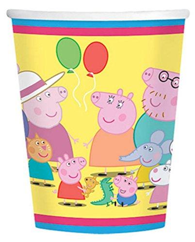 8 Count Peppa Pig Cups, 9 oz, Multicolor